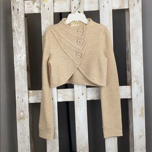 Anthropologie Sparrow Cropped Wool Sweater Small